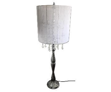 Floor Lamp w/ Crystal Drops