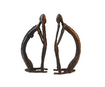 Dogon Mali Bronze Life Forever Female & Male Sculptures