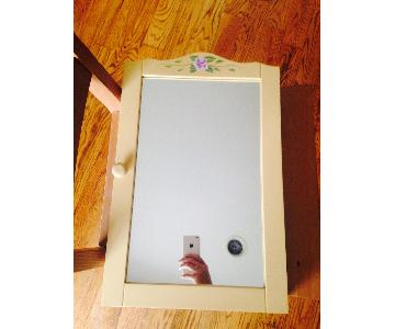 Vintage Jewelry Cabinet w/ Mirror