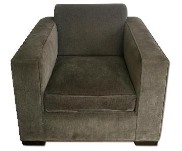 Grey Suede Sofa Chair