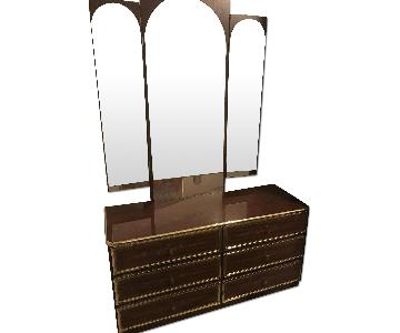 Lacquer 5 Piece Bedroom Set