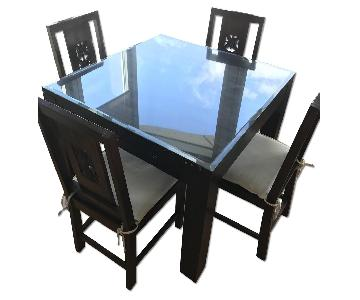 Teak Dining Table w/ 4 Chairs