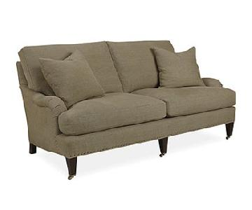 Lee Industries Linen Apartment Sofa