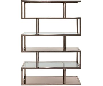 Safavieh Stainless Steel & Glass Bookshelf