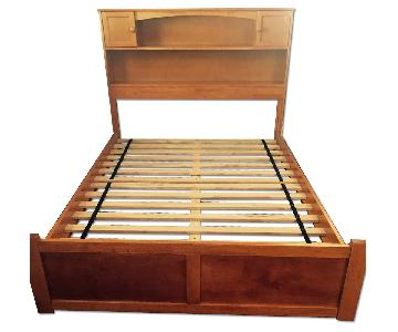 full size bed frame w storage drawers bed frame with storage drawers