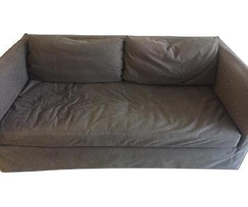 Restoration Hardware Gray Single Cushion Grey Sofa