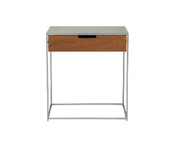 CB2 Audrey Wood & Iron Nightstand/Side Table