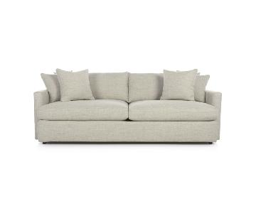 Crate & Barrel Lounge II Sofa in White