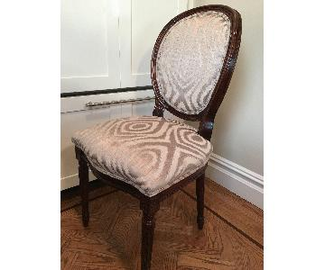 Vintage Custom Upholstered Dining Chairs