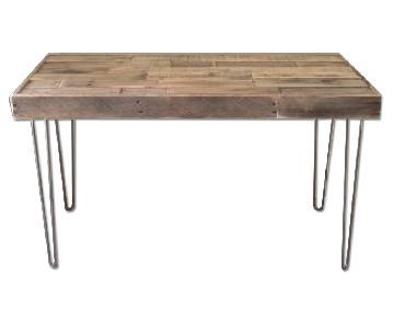 Modern Industrial Wood & Steel Hairpin Leg Work Table