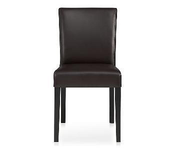 Crate & Barrel Brown Dining Chair