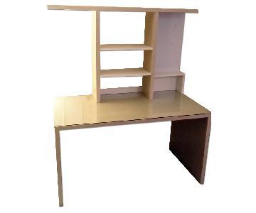 Ikea Mikael Desk w/ Glass Top & Add-on Unit + 2 Drawer Units
