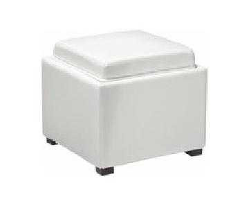 Crate & Barrel Stow Alabaster Ottoman