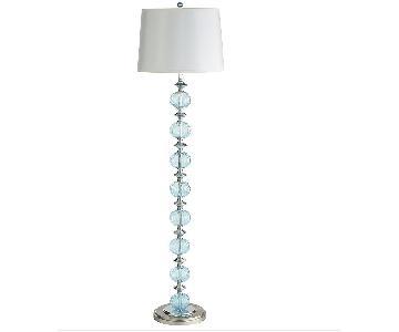Pier 1 Aqua Glass Floor Lamp