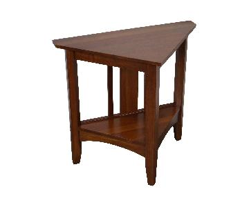 Ethan Allen Triangle Side Table