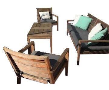 Crate & Barrel Regatta Outdoor Teak Furniture