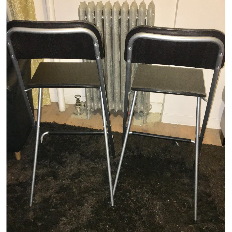 Miraculous Ikea Franklin Foldable Wood Bar Stools Aptdeco Ncnpc Chair Design For Home Ncnpcorg