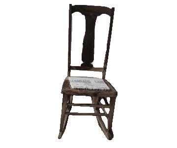 Antique Sewing Nursing Rocker Rocking Chair