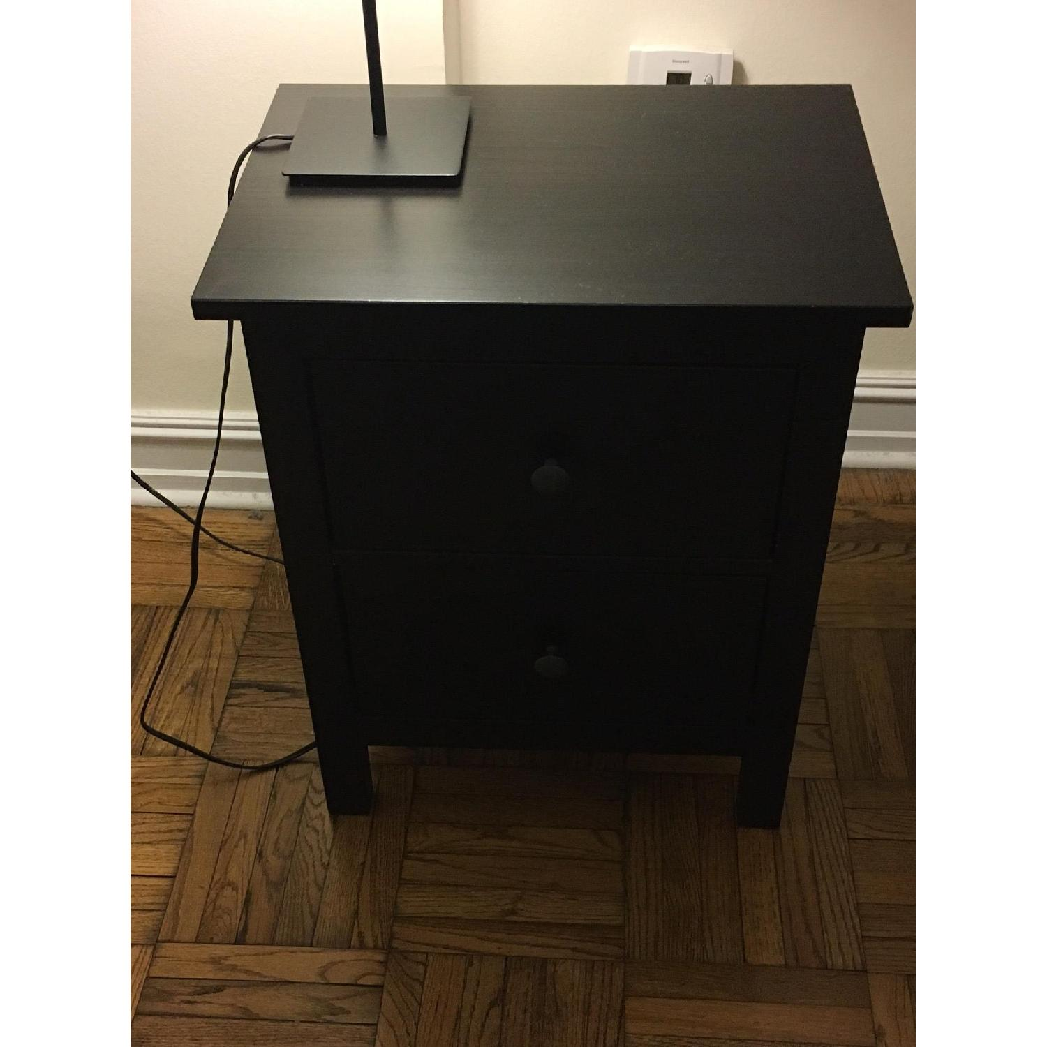 ikea hemnes 2 drawer chest in black brown aptdeco
