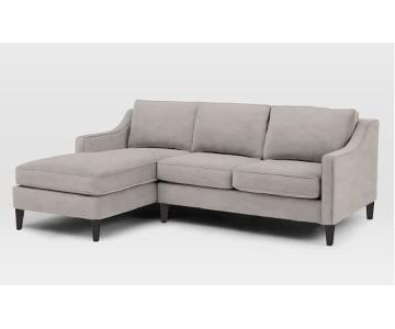 West Elm Paidge 2 Piece Sectional Couch w/ Left Arm Chaise