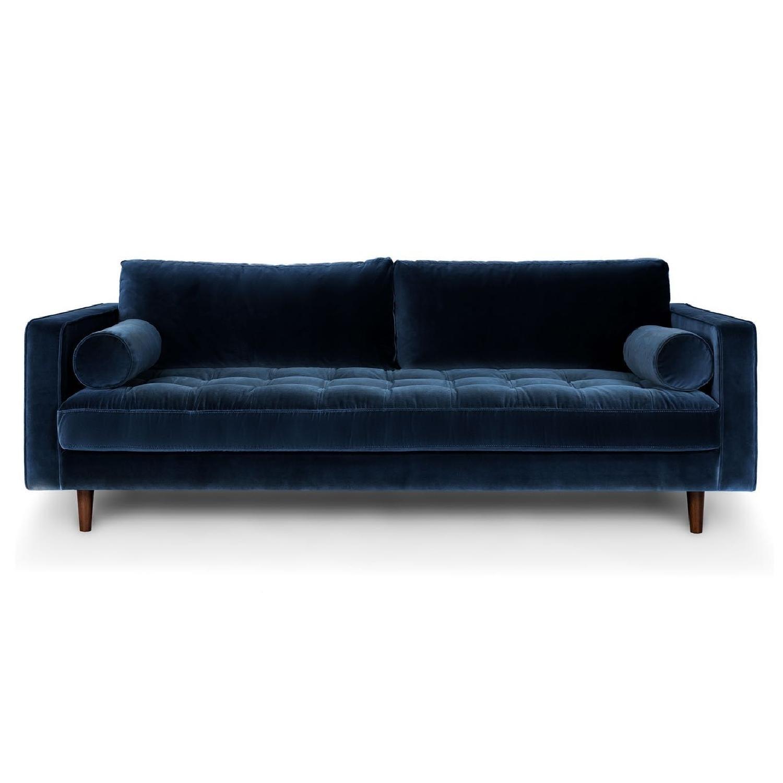 Article Sven Cascadia Blue Velvet Sofa