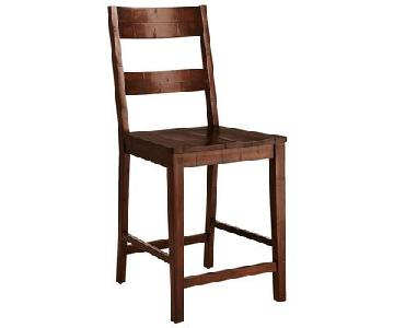 Pier 1 Solid Wood Stools