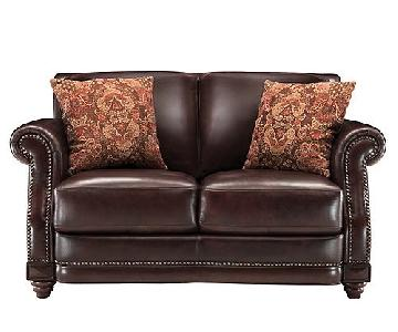 Raymour & Flanigans Alexander Leather Loveseat