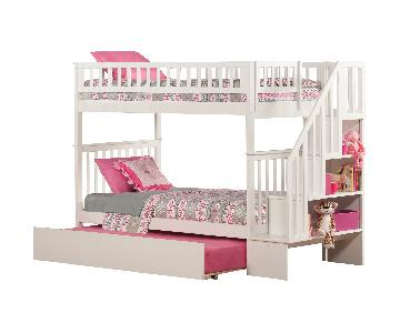 Viv + Rae Shyann Twin over Twin Bunk Bed w/ Trundle
