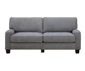 Serta RTA Palisades Grey Sofa w/ 2 Matching Pillows