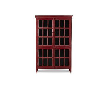 Crate & Barrel Red Cabinet