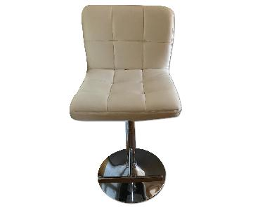 White Leather Bar Stools/Chairs