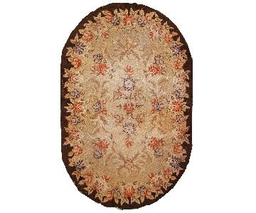 Antique 1930s American Hooked Rug
