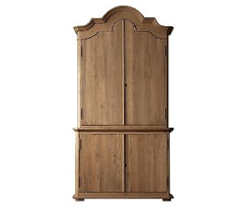 Restoration Hardware French Arch Pediment Armoire