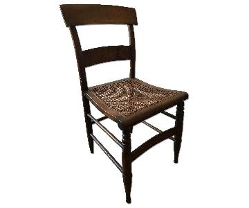 Antique Wicker Dining Chairs
