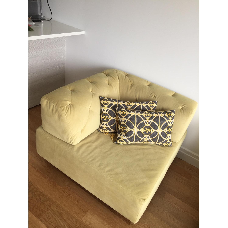 West Elm Tufted Velvet Sectional Sofa Aptdeco