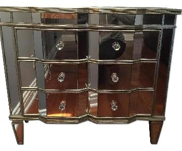 Horchow Neiman Marcus Mirrored Chest w/ Matching Mirror