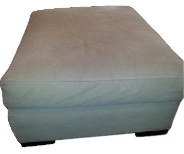 Crate & Barrel Ottoman for Trace Club Chair