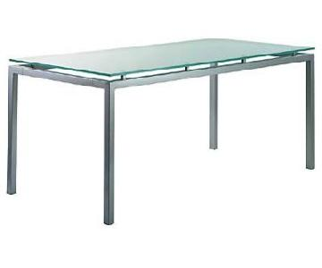 Design within Reach Frosted Glass Top Desk