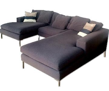 ABC Carpet & Home 3 Piece Sectional Sofa
