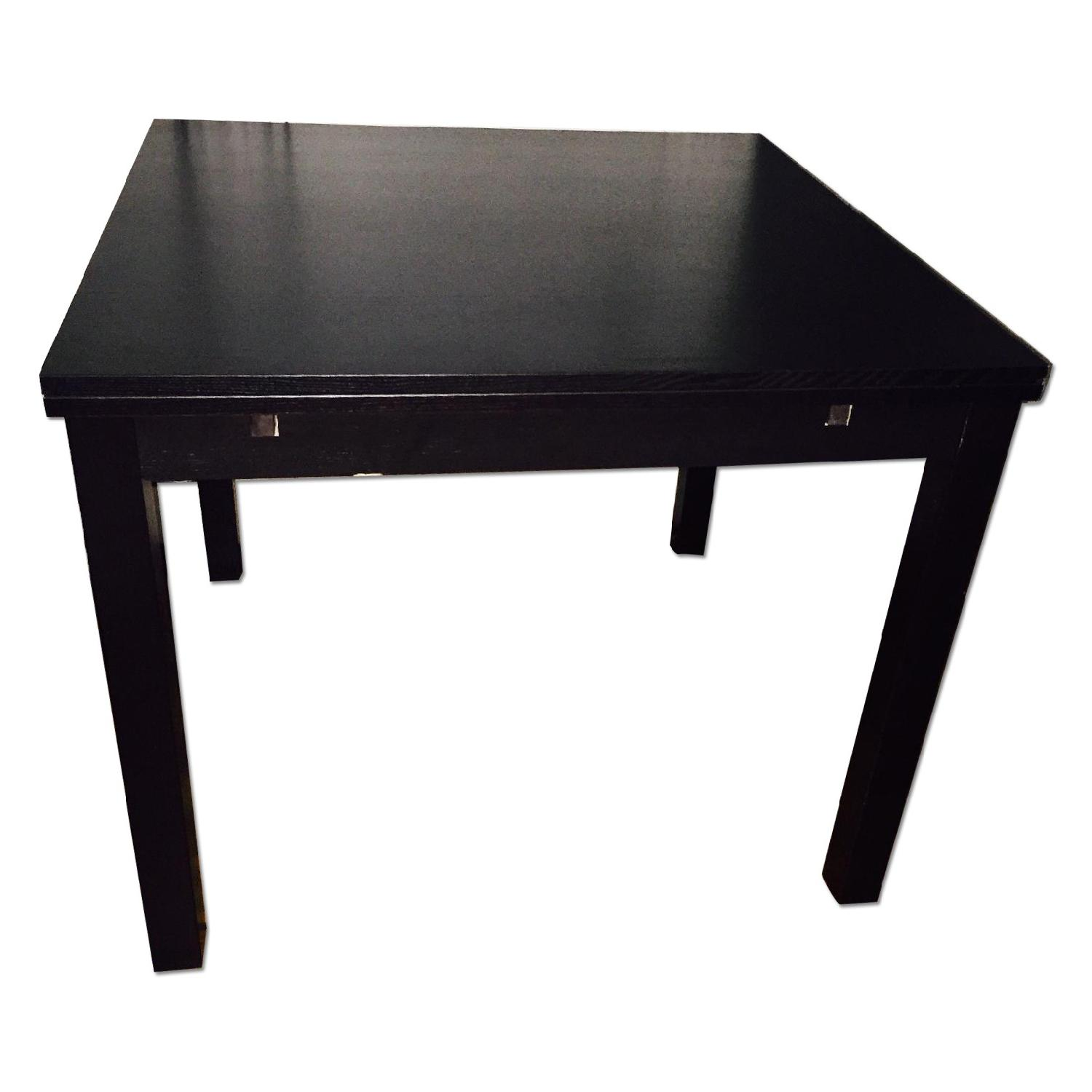 Used ikea bjursta brown expandable table for sale in nyc for Ikea table 9 99