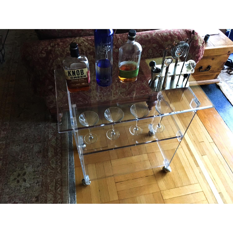 Acrylic TV Stand Bar Cart AptDeco