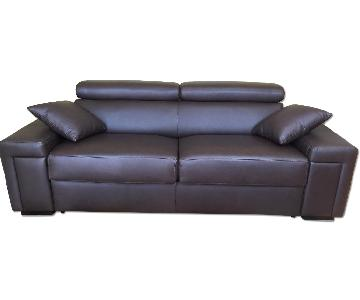 New Trend Concepts Italian Made Leather Sofa Bed