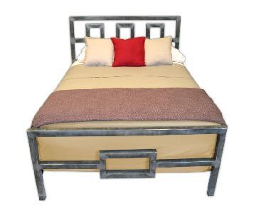 Boltz Steel Furniture Architect Brushed Steel Bed Frame