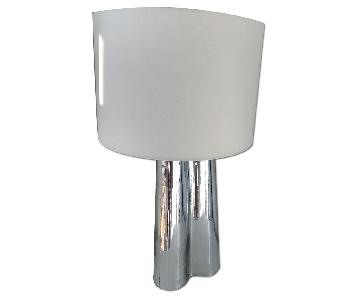 Silver & White Table Lamps