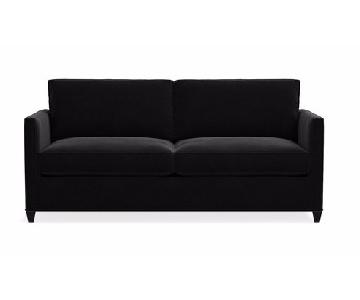 Crate & Barrel Black Microfiber 2 Seater Couch
