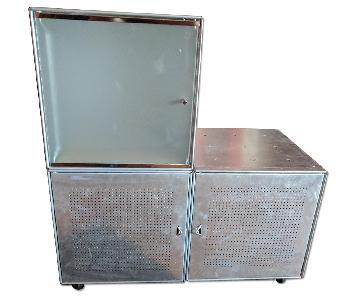 QBO System Metal Shelving w/ Metal & Glass Doors