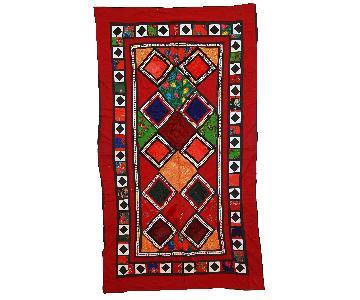 Vintage 1960s Uzbek Patchwork Suzani Rug