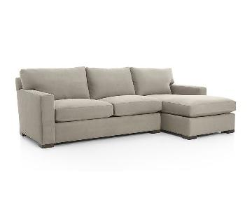 Crate & Barrel Axis 2 Piece Sectional w/ Chaise