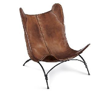 Ralph Lauren Safari Leather Saddle Chair