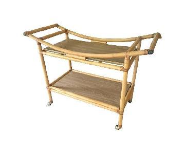 Mid Century Bar Cart in Bamboo